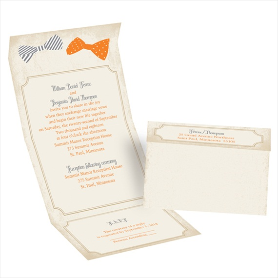 handsome pair - seal and send invitations