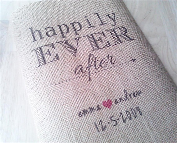 happily ever after burlap knot & nest