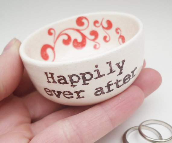 happily ever after ring dish