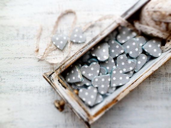 50 Best Bridal Shower Favor Ideas: heart magnet bridal shower favors (by handy happy hearts)