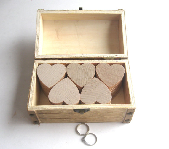 hearts inside wedding wishes box - How to Plan a Western Themed Wedding