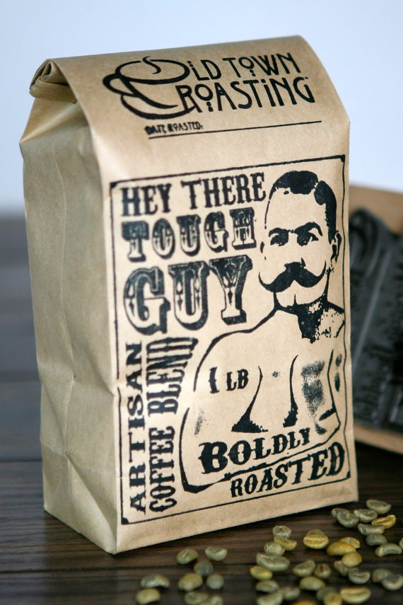 Hey, Tough Guy Coffee | What to Put in Wedding Welcome Bags | http://emmalinebride.com/planning/wedding-welcome-bags/