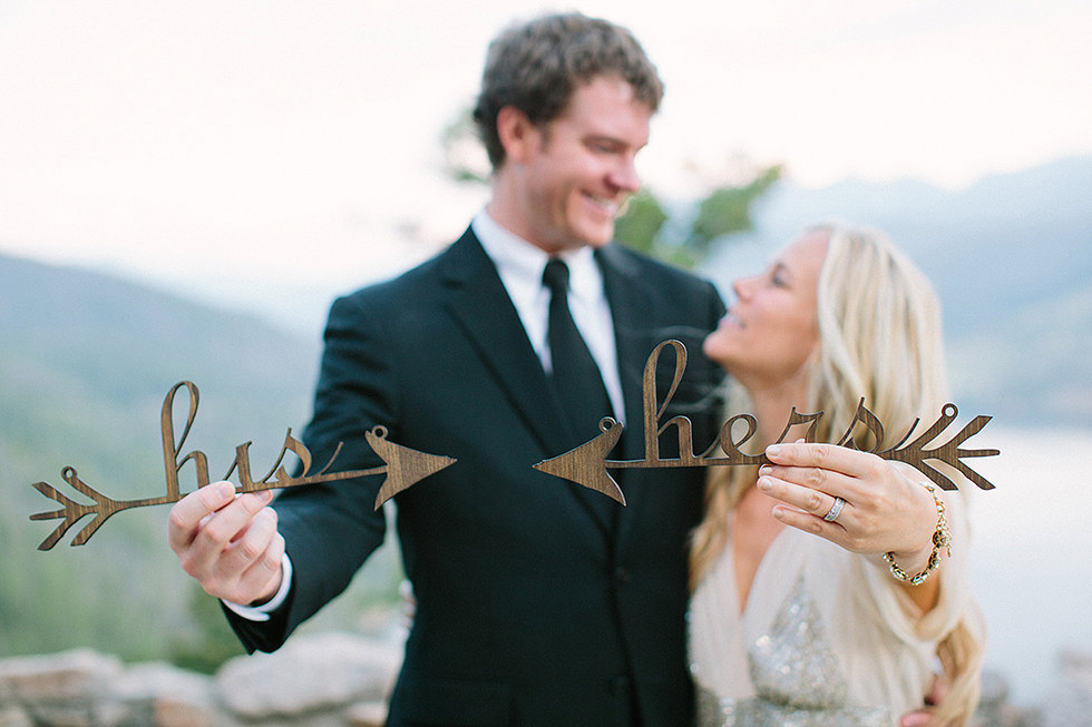 his hers wedding chair signs | via bride and groom chair signs http://emmalinebride.com/decor/bride-and-groom-chairs/