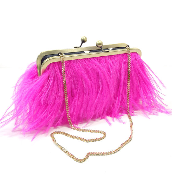 hot-pink-feather-bridal-clutch