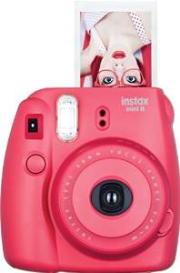 hot pink instax fujifilm instant camera | fun bachelorette party ideas | https://emmalinebride.com/planning/fun-bachelorette-party-ideas/
