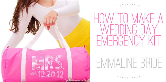 how to make a wedding emergency kit