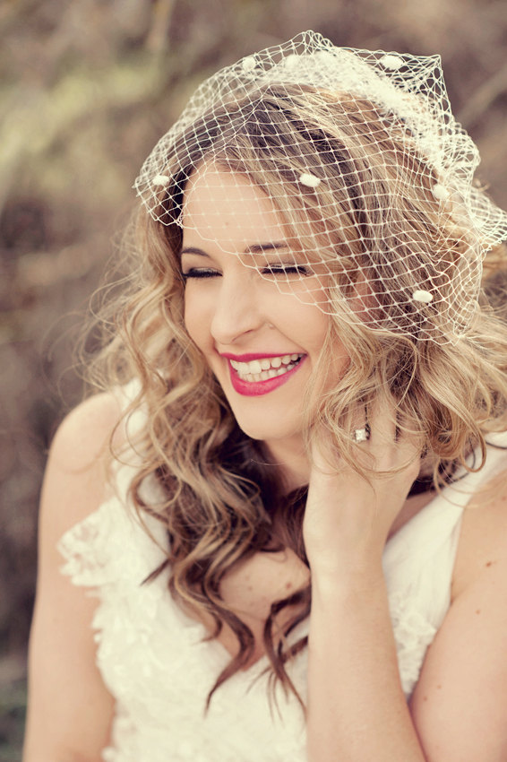 How To Wear A Birdcage Veil With Hair Down Hairstyles By Chloris Couture