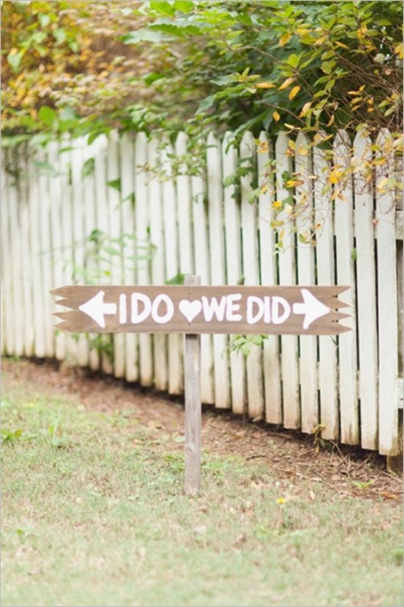 i do, we did sign via 7 Wood Wedding Signs You'll Want to Steal