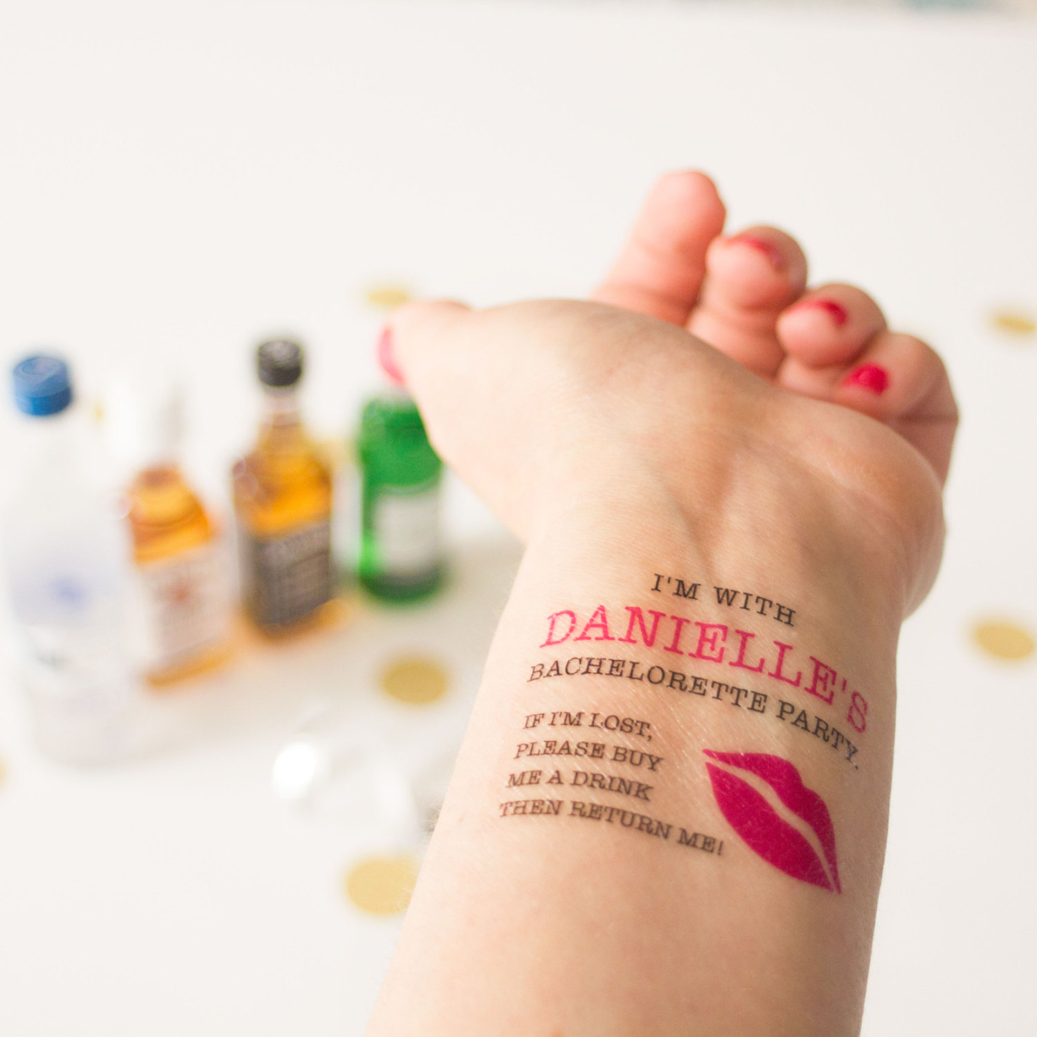 if lost bachelorette party tattoo by kristen mcgillivray | fun bachelorette party ideas | http://emmalinebride.com/planning/fun-bachelorette-party-ideas/