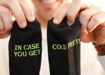 in case you get cold feet socks