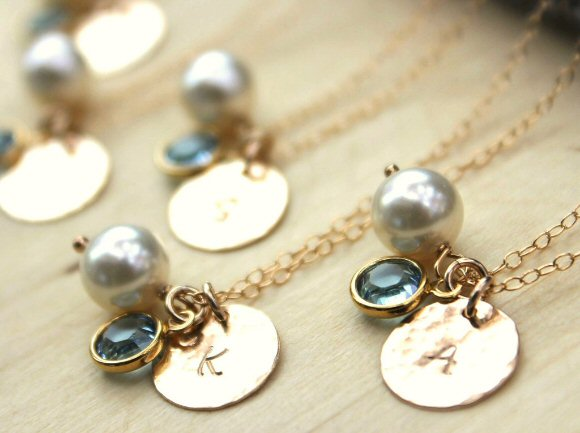Gold Wedding Inspiration (initial pendant necklace: davie & chiyo)
