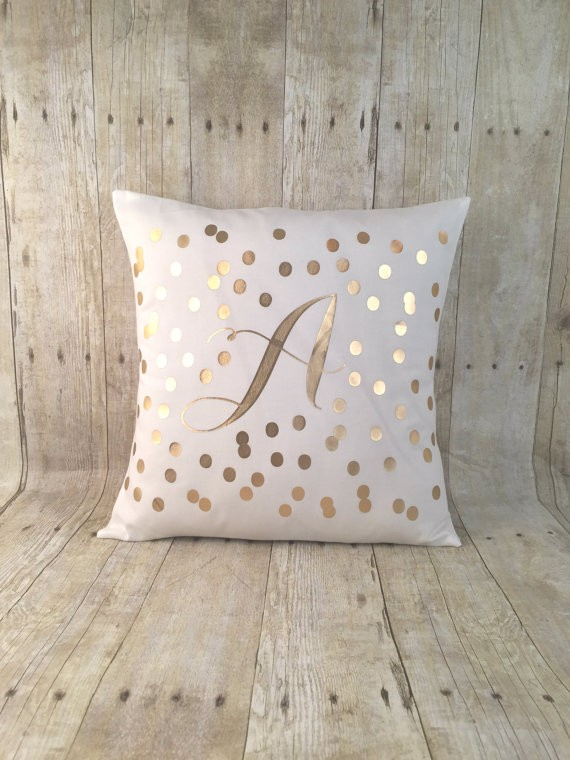 initial pillow cover