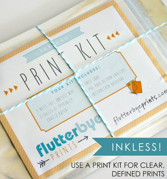 inkless print kit fingerprint guest book poster