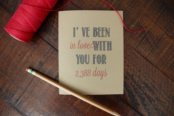 ive been in love with you for days card via 27 Amazing Anniversary Gifts by Year http://emmalinebride.com/gifts/anniversary-gifts-by-year/