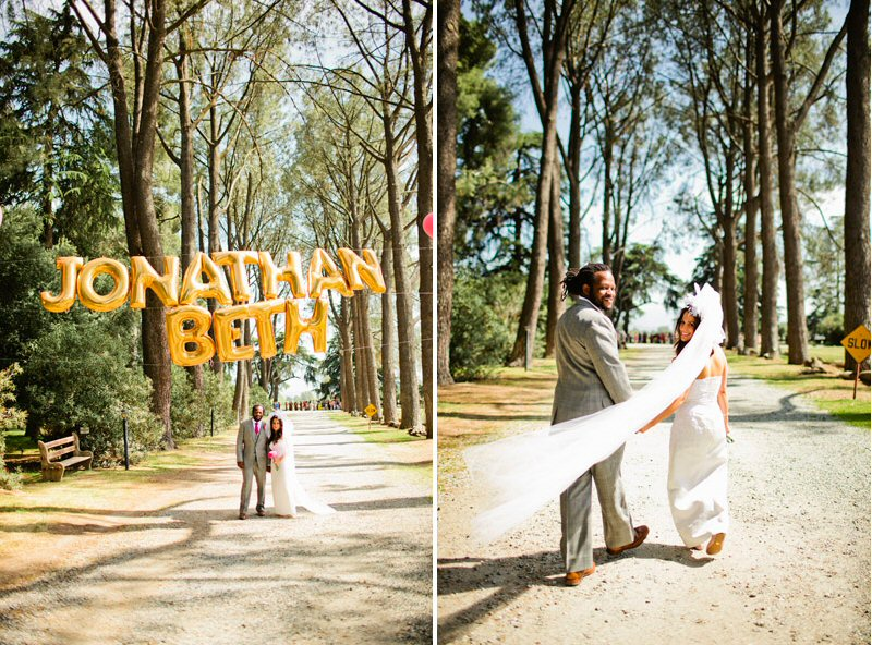 7 Ways To Use Giant Letter Balloons At Weddings Emmaline Bride
