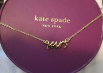 kate spade gold mrs necklace