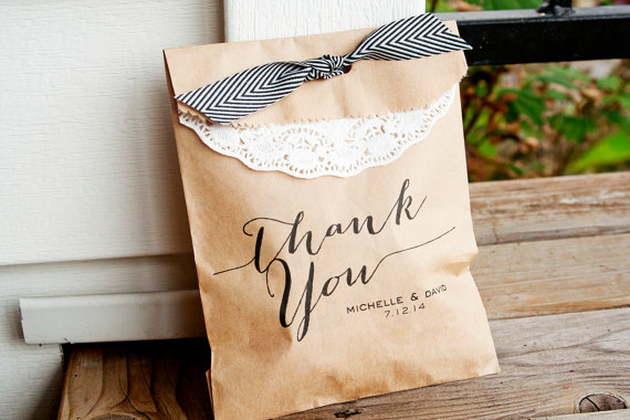 kraft paper favor bags wedding favor containers personalized
