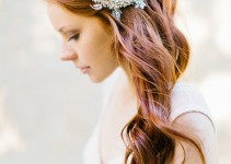 lace and crystal hair piece