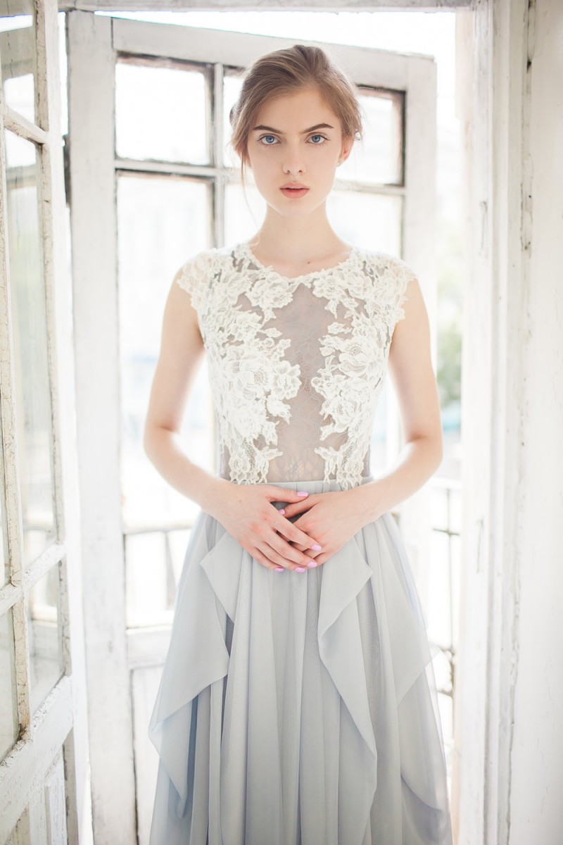 Grey Wedding Dress