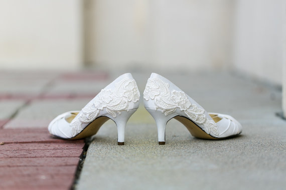 handmade wedding lace heels (walkin on air) via The Marketplace at EmmalineBride.com