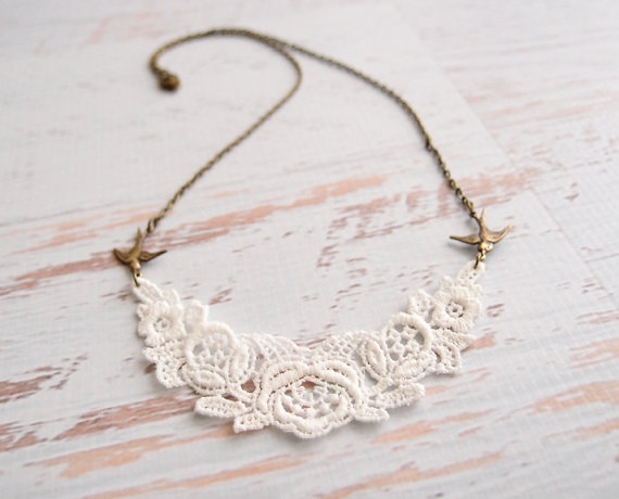 lace necklace via 27 Amazing Anniversary Gifts by Year http://emmalinebride.com/gifts/anniversary-gifts-by-year/