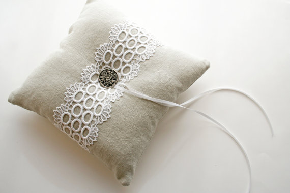 lace ring bearer pillow by Laura Stark