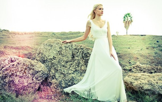 lace top and chiffon skirt etsy wedding dresses