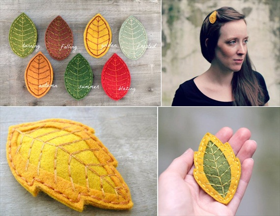 leaf hair accessories