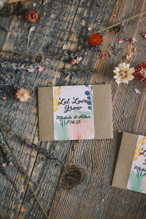 plantable seed packet favors