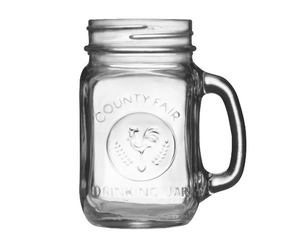 libbey county fair mason jar drinking glasses with handle