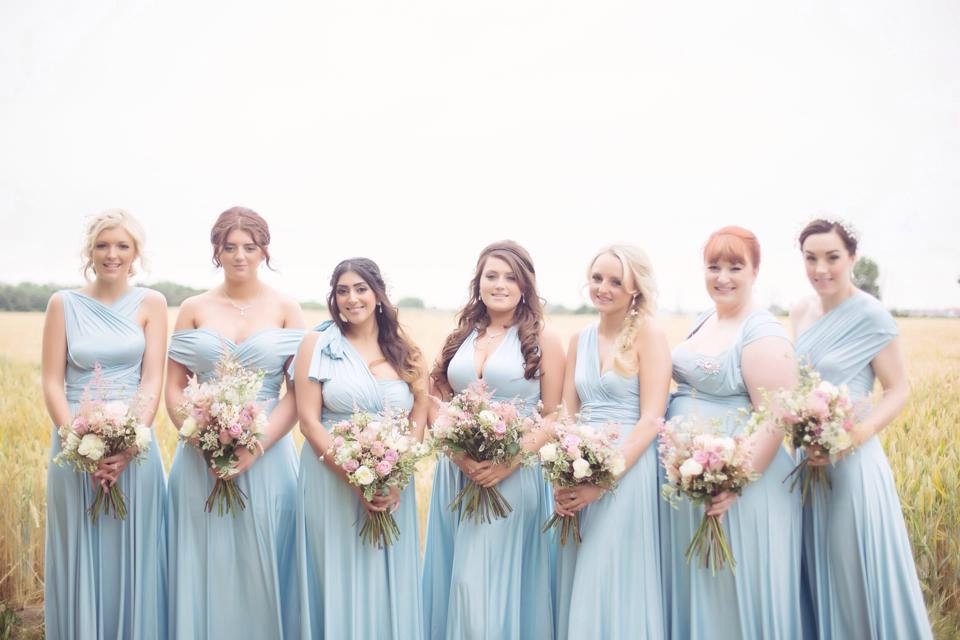 light blue jersey convertible bridesmaid dresses