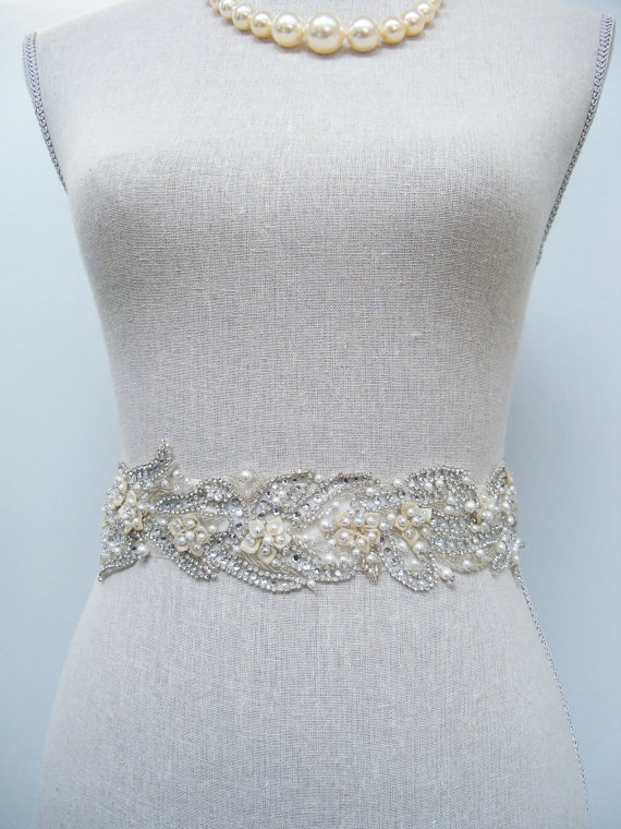 How to Choose a Bridal Sash in 3 Easy Steps (sash by SparkleSM) - liv bridal sash with bling