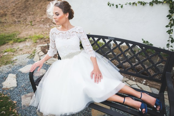 long sleeve lace tulle skirt