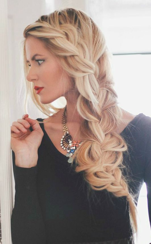 messy side braid via 31 wedding hairstyle ideas