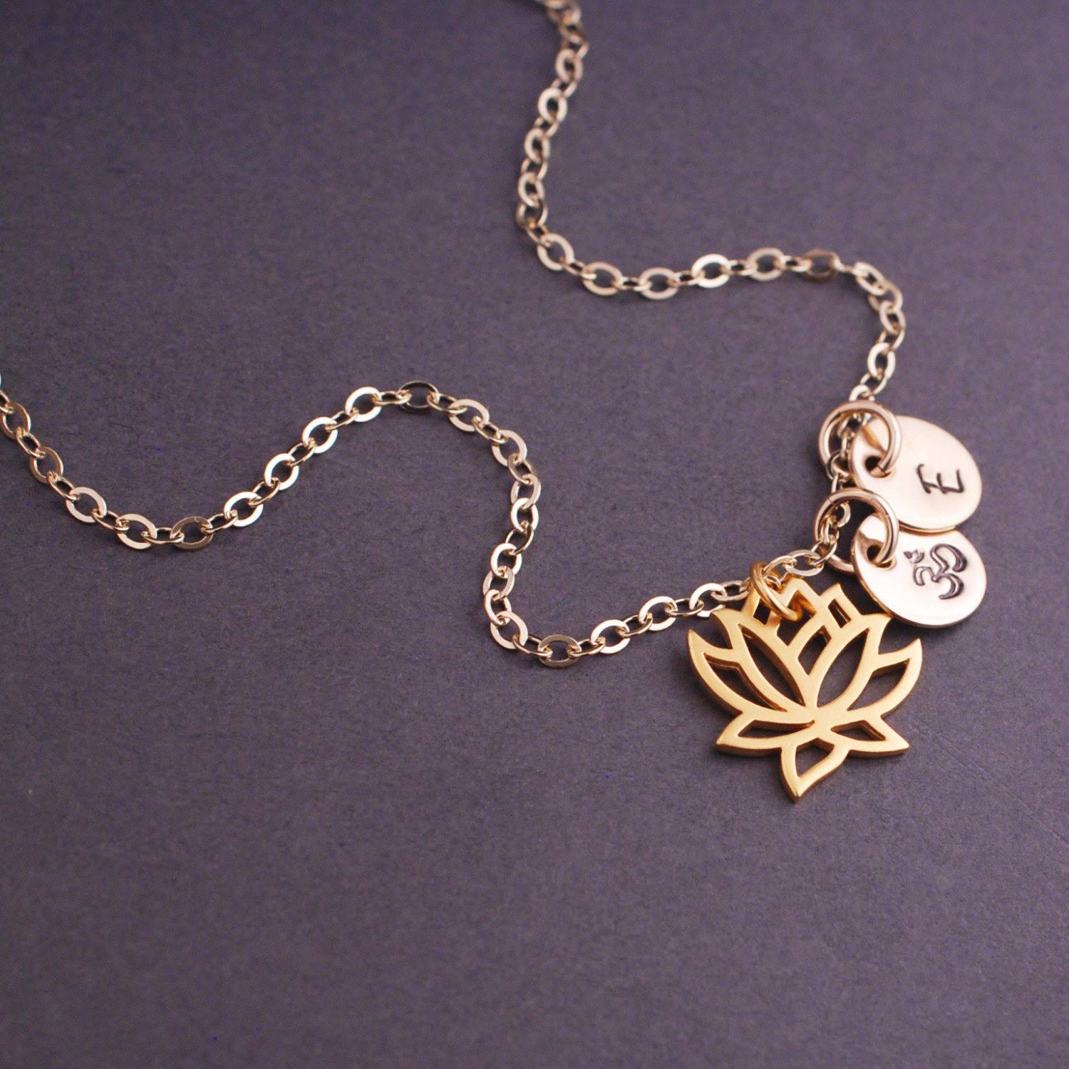 lotus yoga necklace by georgiedesigns