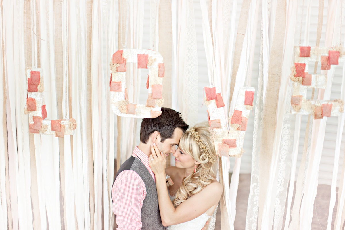 love backdrop by dasherie | 50 Best Burlap Wedding Ideas | via http://emmalinebride.com/decor/burlap-wedding-ideas/