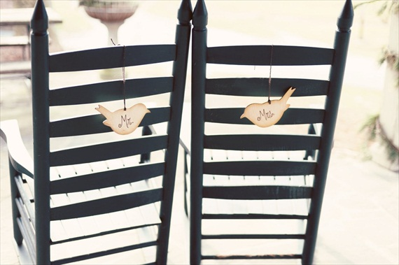 love bird chair signs