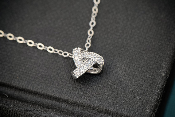 love knot necklace by silver lotus designs | via emmalinebride.com