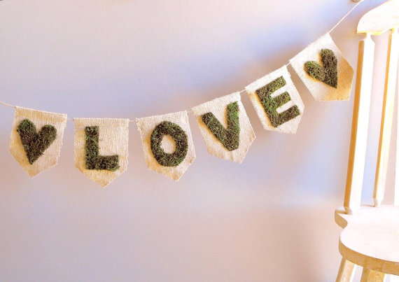 love moss wedding banner