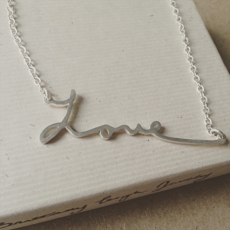 Handwriting Necklace - 'Love'