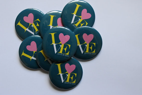 LOVE Favor Buttons
