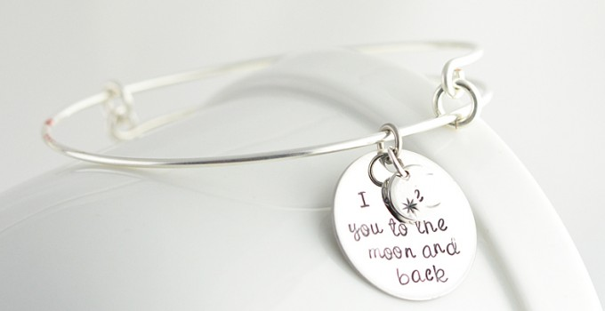 love you to the moon and back bracelet | via http://emmalinebride.com/2015-giveaway/love-you-to-the-moon-and-back-bracelet/