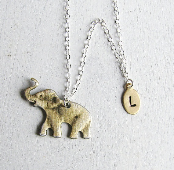 Lucky Elephant Gold Necklace
