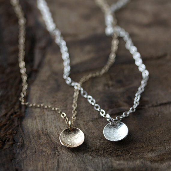maid of honor gift - silver or gold necklace