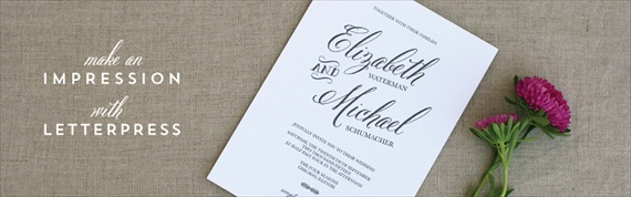 make an impression with letterpress