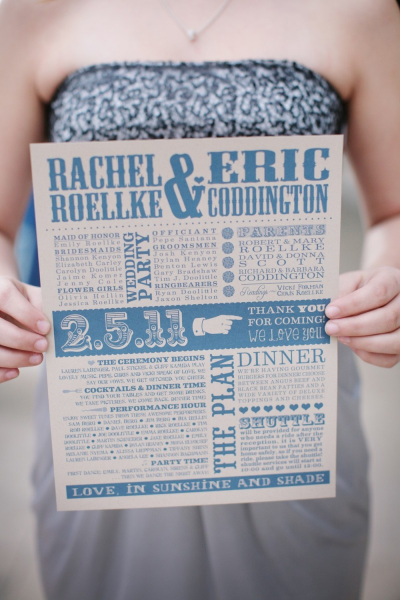 make your own wedding programs | Best DIY Wedding Projects via http://emmalinebride.com/decor/best-wedding-diy-projects/