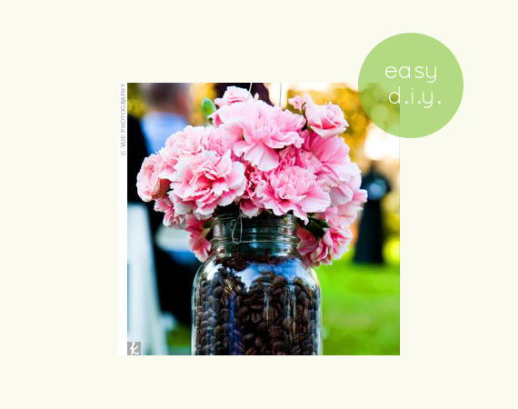 mason-jar-filled-with-coffee-beans-centerpiece-flowers