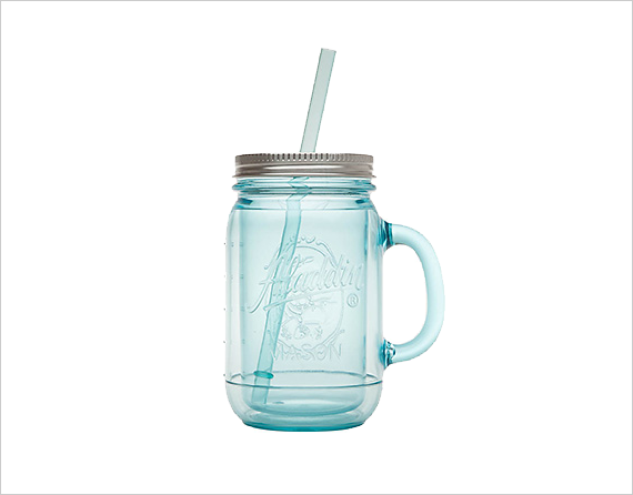 Mason Jar Glasses - mason jar tumbler by aladdin - plastic + perfect for #wedding #venues with a no glass rule