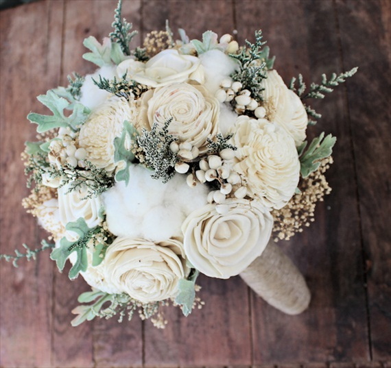 medium handmade wedding bouquet