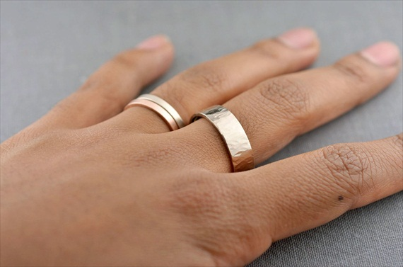 Recycled Wedding Rings: mens palladium white gold wedding band